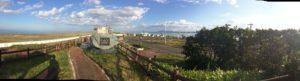 左がオホーツク海、右がサロマ湖